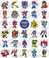 30 x Transformers Cartoon Party Edible Rice Wafer Paper Cupcake Toppers