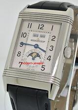 Jaeger LeCoultre JLC Grand Reverso Calendar Silver Dial Mens Watch Q3758420 !