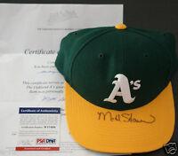 MATT STAIRS Signed Oakland A's Baseball Cap Hat Official A's LOA + PSA/DNA Auto