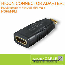 Hicon Adaptador hdhm-fm HDMI Femenino < - > HDMI mini macho para DSLR hdhm-fm