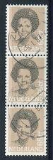 Nederland nvph 1237, PLAATFOUT 1237P, strook van 3, gebruikt ;