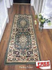 Keshan Traditional 112  G Green Hall Runner 60cm x 180cm