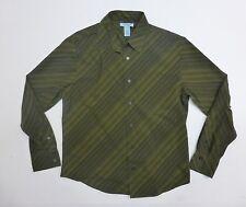 Gene Meyer Shirt Mens Size L Green Button Front Shirt Excellent Condition