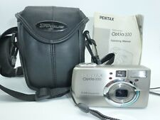 Pentax Optio 330 Digital Camera 3.34mp with 2 Batteries, Manual & Case