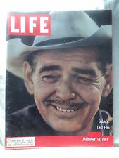 Life magazine January 13 1961 Clark Gable the Abominable Snowman