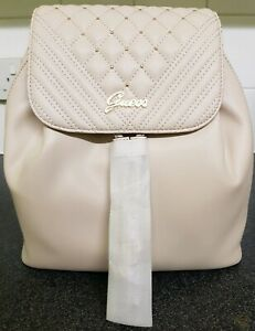Genuine Guess Beige Backpack with Gold details. Original rrp £90