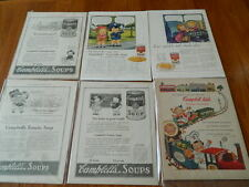 Vintage Campbell Soup Kid  Print Advertising Lot  (Total of Six different Ads)