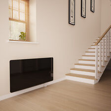 Black Glass Radiator Cover for The Hall - Small