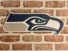 Seattle Seahawks 3d mancave bar basement sign game used Russell Wilson jersey
