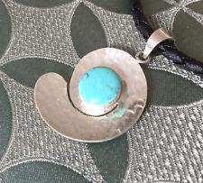 GROß! Traumhaftes Amulett mit Türkis 925er SILBER!
