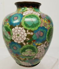 Antique Chinese Cloisonne Enamel Vase Art Deco Style Flower Balls