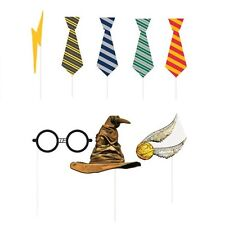 HARRY POTTER Hogwarts Houses PHOTO PROP SET (8pc) ~ Birthday Party Supplies HP