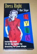 DRESS RIGHT FOR YOUR SHAPE VHS LOOK 10-20 LBS. THINNER EXCELLENT 1999 JACKOWSKI