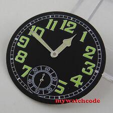 35mm black luminous dial fit eta 6498 seagull movement Watch D59 (dial+hand)