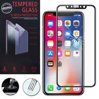 """Film Verre Trempe Protecteur Protection NOIR pour Apple Iphone X 5.8""""/ iPhone 10"""