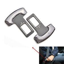 2 pieces Car Seat Belt Stop Alarm Eliminator Canceller Safety Insert Buckle Plug