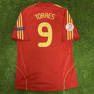 2008 Spain Fernando Torres Jersey Shirt Kit Red Home XL Adidas Uefa Euro 9