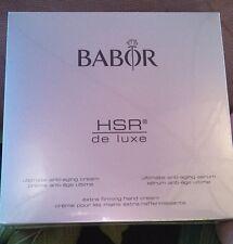 Babor HSR Deluxe Anti-Aging Gift Set NEW IN BOX, Cream 50ml, Serum, 15ml, hand15
