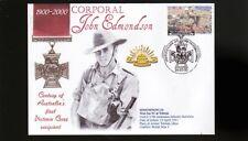 Australian Anzac Victoria Cross 100th Anniv Cov, Cor John Edmondson