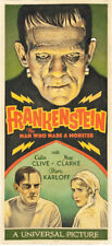 "Frankenstein Movie Poster Replica 8.5 x 19"" Photo Print"
