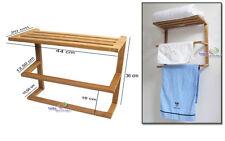 bambou VESTIAIRE MURAL plateau porte serviette et 2 lien