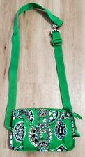 Vera Bradley Fanny Pack Waist Belt Bag Green Paisley