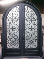 "Hand-Crafted 12 Gauge Wrought Iron Entry Doors by Monarch Custom Doors 72"" X 96"""