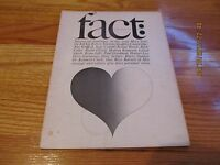 JANUARY-FEBRUARY 1966 FACT: VOLUME THREE ISSUE ONE MAGAZINE INTERRACIAL MARRIAGE