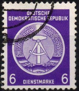 GERMANIA EST DDR 1954 -Servizio- Usato 6 Pfg Compasso/Martello 1° emissione #DR5