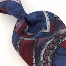 VAN HEUSEN TIE USA ABSTRACT MAROON Blue CLASSIC Silk Necktie Ties I7-476
