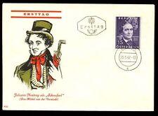 Austria 1962 Johann Nestroy FDC Cover #C9605