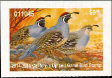 CALIFORNIA   2014 UPLAND GAME STAMP GAMBEL QUAIL By TimTurenne