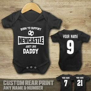 Newcastle - Born to Support - Baby Vest Suit Grow