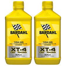 2 LITRI OLIO MOTORE MOTO 4T 4 TEMPI Bardhal Bardahl XT-4 XT4 C60 RACING 10W60