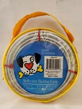 Quality Pet Accessory 25 Ft Large Dog Tie Out Cable Reflective Vinyl Coated