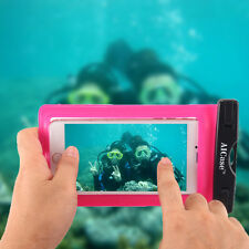 for iPhone 7 Plus 8 6s Plus Waterproof Underwater Photo Case Phone Dry Bag Pouch Rose Red