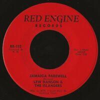"islands soul reggae 7"" LEW HANSON THE ISLANDERS Jamaica Farewell MP3 Red Engine"