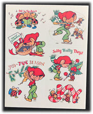 Vintage Christmas Elves Jolly Holly Days Ladybugs Stickers By Paula Stickers