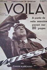 REPORTAGES PHOTOS VOILA 1936 VITESSE TRAIN MARIA IONESCO MUSIC HALL E. CARROLL