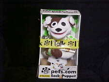 Talking Dog Sock Puppet Pets.Com Plush Toy With Box & Microphone 1999