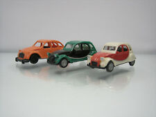 Lot of 3 Herpa Plastic HO Cars 1/87 Citroen 2CV