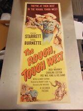 Charles Starrett The Rough Tough West Original Insert Movie Poster #N1679