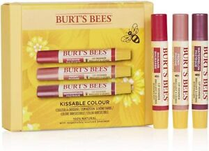 Burt's Bees Kissable Colour Lip Balm 100% Natural Moisturising Gift Set