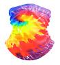 Rainbow TieDye Swirl Ocean Beach Neck Gaiter New Unisex Novelty Colorful Fashion