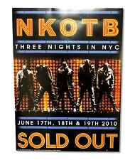 "NEW KIDS ON THE BLOCK ""3 NIGHTS IN NYC SOLD OUT"" EVENT POSTER NEW OFFICIAL BAND"