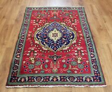 OLD WOOL HAND MADE  ORIENTAL FLORAL RUNNER AREA RUG CARPET 144X 95 CM