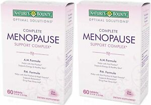 [2-Pack] Nature's Bounty Complete Menopause Support Complex, 60 Tablets X2