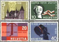 Schweiz 653-656 (kompl.Ausgabe) postfrisch 1958 Jahresereignisse