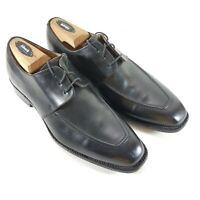 FINSBURY of England Mens Size 8 M black Dress Shoes Goodyear Welted Apron Toe