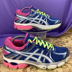 ASICS Gel FLUX Blue White Hot Pink Running Walking Shoe T3D9N 40 women's 8.5
